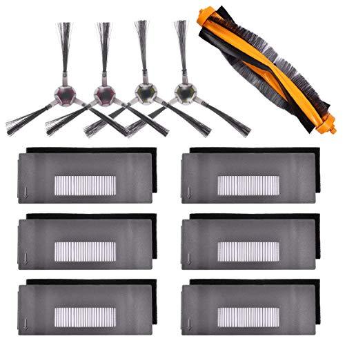 XZANTE Zubeh?r Kit Kompatibel Für Deebot 901 900 Robotersauger, 6 Filter + 2 Set Bürste + 1 Hauptbürste