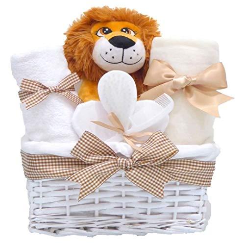 Lion Unisex-Duschkorb Baby Unisex-Babykörbe Jungen Mädchen Baby Hamper Basket