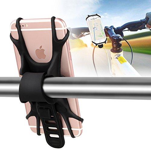 Fahrrad Handyhalterung für alle Smartphones,Beautystar Einstellbar Rutschfestes Silikon Fahrrad Handyhalter mit einem 4-6 Zoll Bildschirm, Für Straßenfahrräder als auch Mountainbikes, In Sekunden am Lenker zu befestigen und abzunehmen