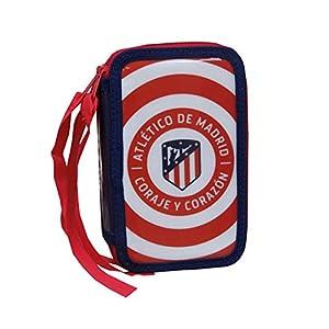 CYP- Plumier 3 Pisos con Material Escolar Atlético de Madrid Accesorios, Multicolor, único (EP-203-ATL)