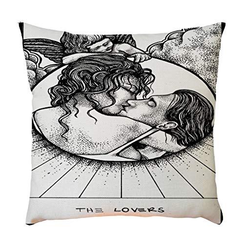 Kissenbezug, kissenhülle Kopfkissenbezug Home Dekoration Pillowcase Super weich Sofakissen für Wohnzimmer Sofa Bed,45x45cm By Vovotrade -