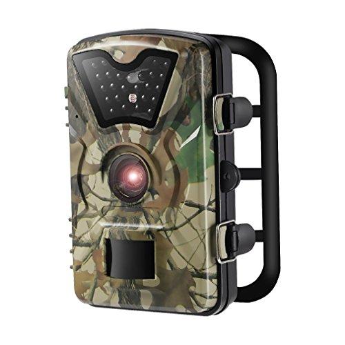 Caméra de Chasse LESHP Caméra de Surveillance Étanche 24 LEDs 12MP 1080P HD 25m Grand Angle 90 ° De Vision IP66 Étanche, Nocturne Basse Luminosité Traque IR Caméra de Jeu Nocturne Infrarouge