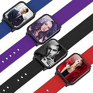 Bluetooth Smartwatch Fitness Uhr Intelligente Armbanduhr Fitness Tracker Smart Watch Sport Uhr mit Intelligente App und Big Data Cloud Service usw. für Android und IOS Smartphones Damen Herren