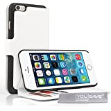 Yousave Accessories iPhone 6 Plus Case White PU Leather Wallet Stand Cover