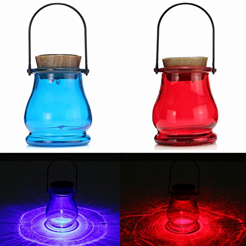 JCHUNL Solaire LED Lantern Table Aurora Sensor Garden Yard Night Lampe Lumière New Hot (Color : Red)