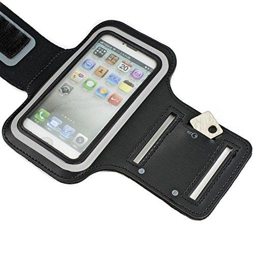 Sport Armband für Samsung Galaxy J7 (2016) schwarz Armtasche Schutzhülle Etui Case Hülle Handytasche für Sport Jogging und Fitness Studio Reiten
