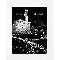 Archivio Foto Locchi Firenze – Stampa Fine Art su passepartout 50x70cm. – Immagine notturna di Piazza della Signoria a Firenze