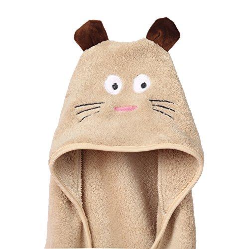 etuch niedliche Tiere Kleinkind weiche Cape 5 Farben erhältlich (Kaffee Katze) (Junge Elefant-baby-dusche)