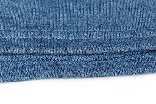 Ruiying Cardigan Femme Drapé Gilet Long Ouverte Devant Veste en Tricot Casual Bloc de Couleur Bleu