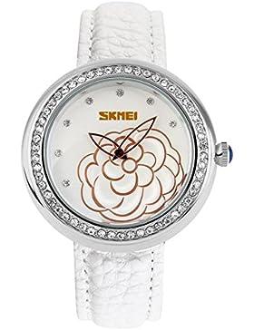Elegante stilvolle Camellia klassische Vintage-Uhren/Mädchen Strass Mode Uhr-A