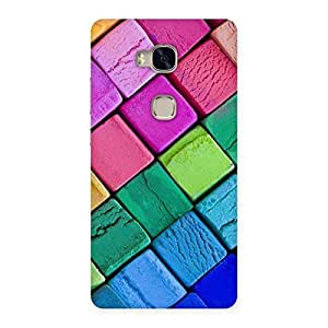 Stylish Block Colors Print Back Case Cover for Huawei Honor 5X
