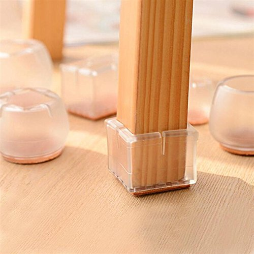 Design61 Silicone Chaise Lot De 4 Patins En Feutre Capuchons Meubles Pour