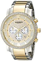 Akribos XXIV Hombres de Grandioso Cronógrafo Diamante reloj con pulsera de acero inoxidable