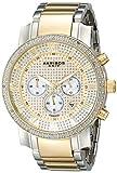 Akribos XXIV - Homme - Grandiose de Diamant - Quartz - Chronographe - Cadran Or - Or - Bracelet Acier Inoxydable