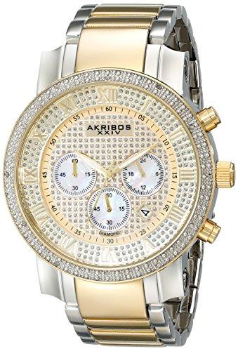 51T5dmza5YL - Akribos XXIV Grandiose Gold Mens AK439TT watch
