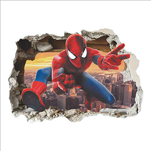 eber Spiderman im Wanddurchbruch Loch Marvel's Spider-Man Ultimate Wandtattoo Kinderzimmer Spiderman Wandsticker Spiderman Wandaufkleber Spiderman ()