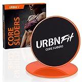 URBNFit Core Sliders Disques glisseurs - double-face pour moquette ou sol dur - idéal pour core training/fitness/aérobic/CrossFit/entrainement du corps entier/préparation physique