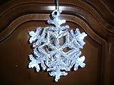 LED Fensterlicht Fensterbild Schneeflocke inkl. Batterien Weihnachtsdeko