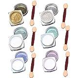BEETEST 6pcs 1 g / caja espejo cromado de uñas Polvo metálico efecto de esmalte de uñas Glitter Shinning Pigmento 6 cajas + Palillo de la esponja