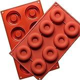 Stampo in silicone per donuts a 8 fori, per ciambelle, biscotti e cioccolato