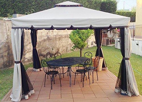 gazebo-colore-ghiaccio-3x3-giardino-in-alluminio-copertura-450-gr-antipioggia-zanzariere-e-teli-late