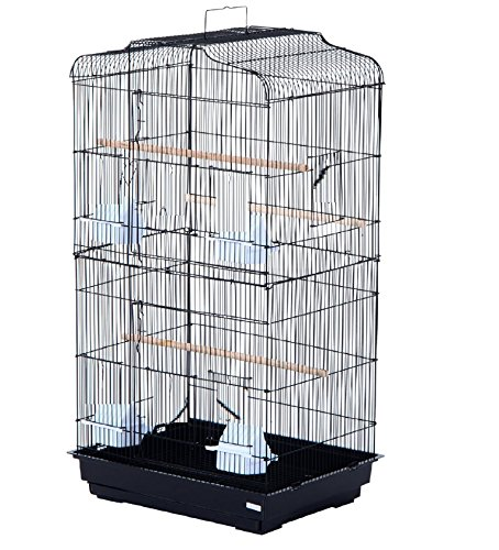 Pet Zone TALL XL BUDGIE COCKATIEL FINCH BIRD CAGE BLACK/WHITE NBH3081 (BLACK) 2