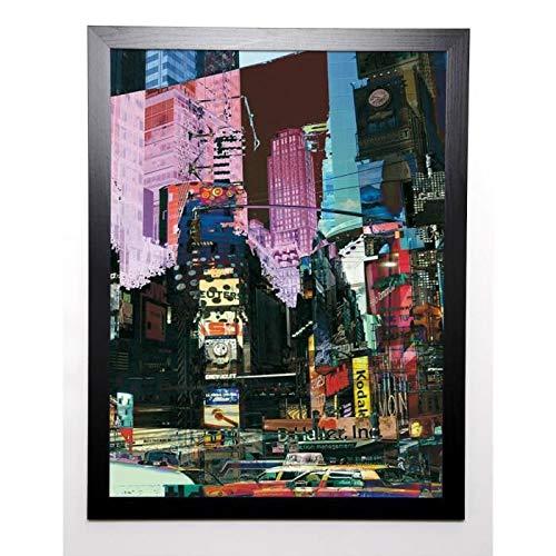BOUTEILLER CÉDRIC Image encadrée Broadway 57x77 cm Multicolore
