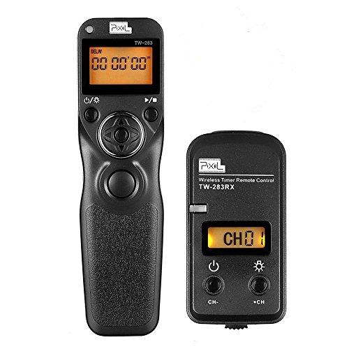 Pixel 2.4GHz Sans Fil Numérique Télécommande TW-283/E3 Intervallomètre Déclencheur à Distance avec Minuterie pour Canon 1300D 1200D 1100D 1000D 760D 750D 700D 650D 600D 550D 450D 60D 70D 80D 77D SX60HS SX50HS