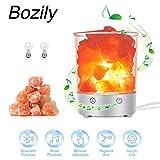Bozily Lampada salina dell'Himalaya con altoparlante Bluetooth Lampada da comodino di cristallo da comodino con interruttore dimmer tattile - Best Scelta del regalo di festa