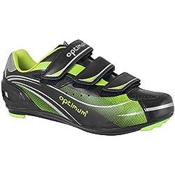 Optimum Nitebrite - Zapatillas de ciclismo de sintético para hombre, color negro, talla 41