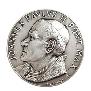Medaillon des Heiligen Papst Johannes Paul II und Unsere Dame der Hilfe