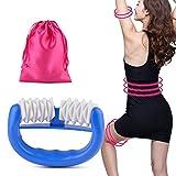 Kapmore Massage Roller, Cellulite Reduzierung Kunststoff Manuelle Runde Griff 2 Wheel Body Massager