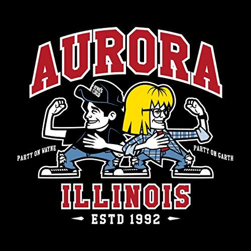 Waynes World Party time Aurora Illinois Women's Hooded Sweatshirt Black