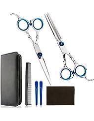 Luxebell Professionelle Haar Schneiden Set für den Hausgebrauch. Hoch Qualität Friseurscheren / Salon / Verdünnung Haushaltsschere Set mit Kamm und Fall für Männer und Frauen