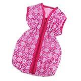 B Baosity Puppenzubehör Mini Schlafsack Mit Reißverschluss Für 40-45 cm Puppe Kleidung Zubehör