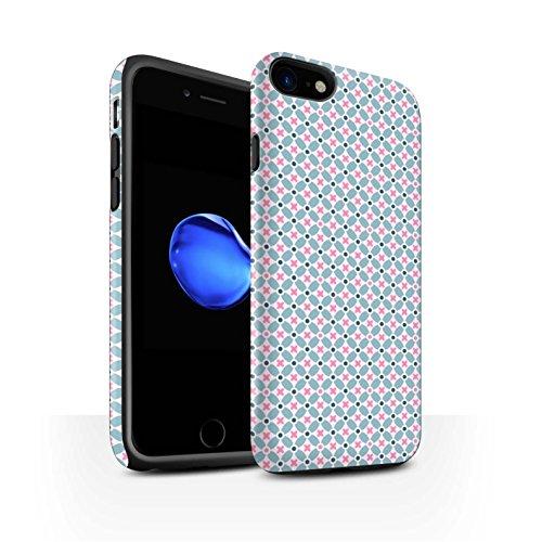 STUFF4 Matte Harten Stoßfest Hülle / Case für Apple iPhone 8 / Violett Muster / Windmühle Kollektion Turquiose