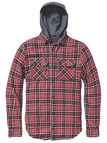 Globe Alford, Camicia con Cappuccio Uomo Rosso