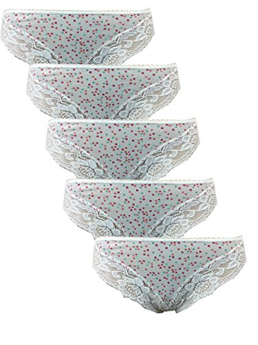 ladies-marks-spencer-5-pack-brazilian-lace-knickers-briefs-cotton-lycra-ms-12-cream-floral