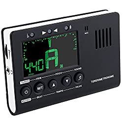 Mugig Metronom digital Stimmgerät Tuner 3 in 1 Funktionen mit großem Klarem und Buntem LCD-Bildschirm (aroma)