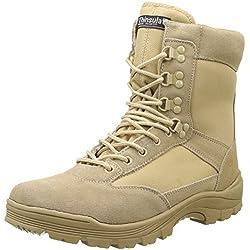 Mil-Tec Tactical Boot con cremallera YKK 45, caqui