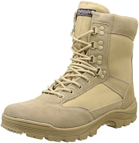 Tactical Boots Zipper khaki Gr.46 (Outdoor Halloween)
