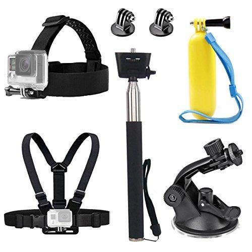Tek-Action Kamera Head Strap Brustgeschirr Gürtel Mount Selfie Stick Floating Handle Grip Suction Cup Mount Zubehör für GoPro Hero 6Crosstour 4K victure Unterwasser Kamera (Suction-cup-mount-kamera)