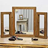 New Rustic Wooden Dressing Table Mirror Farmhouse Rectangle 2ft5(W) x 1ft6(H)