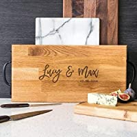 Personalised Chopping Board/Large Wooden Chopping Board In Oak Or Walnut/Personalised Wedding Anniversary Gifts/Personalised Engagement Gifts