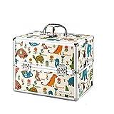 JIANPING Cartone Animato Carino Scatola Medica Scatola Medica Multi-Strato Custodia Mini Bambino Piccolo 30x21.7x24cm Kit di Pronto Soccorso (Size : Khaki)