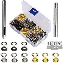 200 Kit de herramientas de ojetes de MEZOOM del los ojales 1/4 Pulgada interior