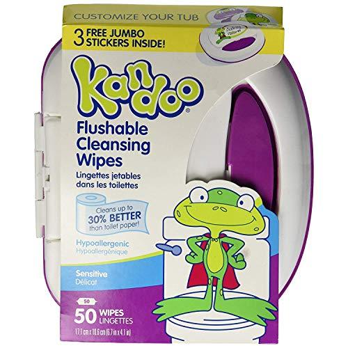 Kandoo Flushable Toddler Wipes 50 Ct