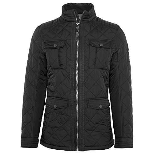 TOM TAILOR Herren Jacke Diamond-Quilted Jacket Black