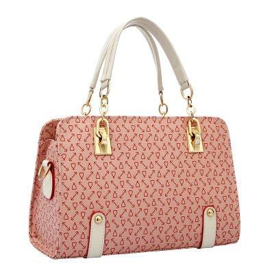 Mefly Europa und die Vereinigten Staaten sind das neue Pattern Gestaltung Schulterknochen Prad Handtasche Pink
