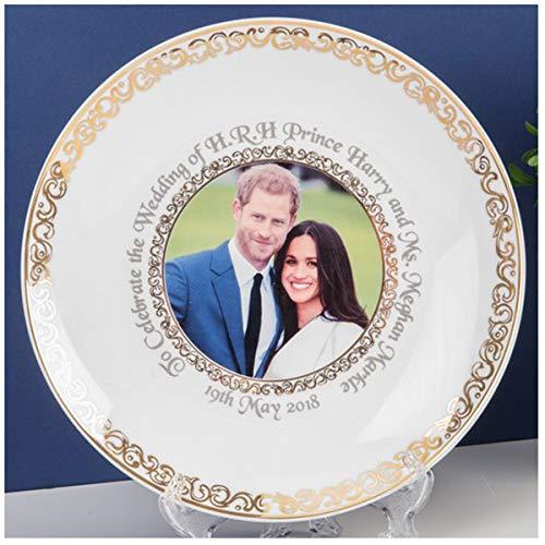 Les Trésors De Lily [Q2049 - Assiette décorative Porcelaine 'Royal Wedding' - diamètre 20 cm